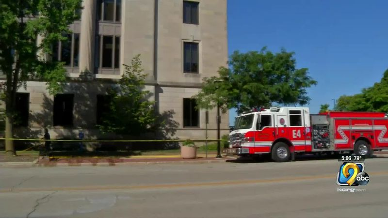 Cleaning crews were out at City Hall in Cedar Rapids this morning, after some people left...