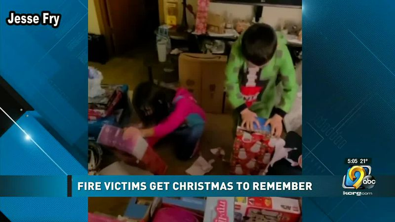 Fairfax fire victims are given a Christmas to remember