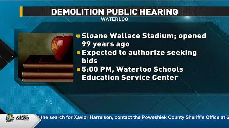 Waterloo hosting hearing on proposed demolition of Sloan Wallace Stadium
