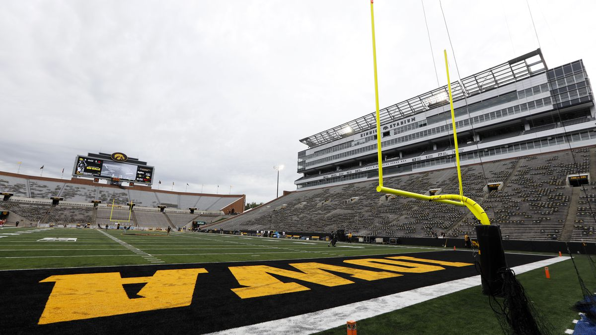 Kinnick Stadium is seen before an NCAA college football game between Iowa and Miami of Ohio, Saturday, Aug. 31, 2019, in Iowa City, Iowa. (AP Photo/Charlie Neibergall)