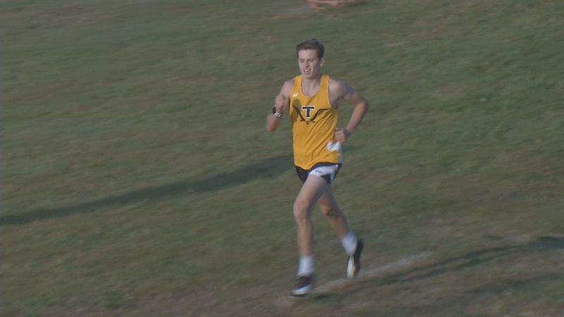 Tipton's Caleb Shumaker cruises to victory in the North Linn Cross Country Invitational on...