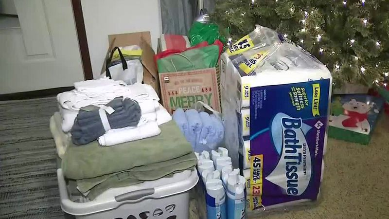 A group of items for donation to those in need.