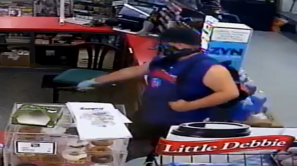 A man who Marshalltown Police said robbed the Git-N-Go convenience store on South Center Street...