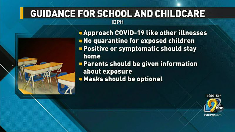 IDPH updates school and childcare provider COVID guidance