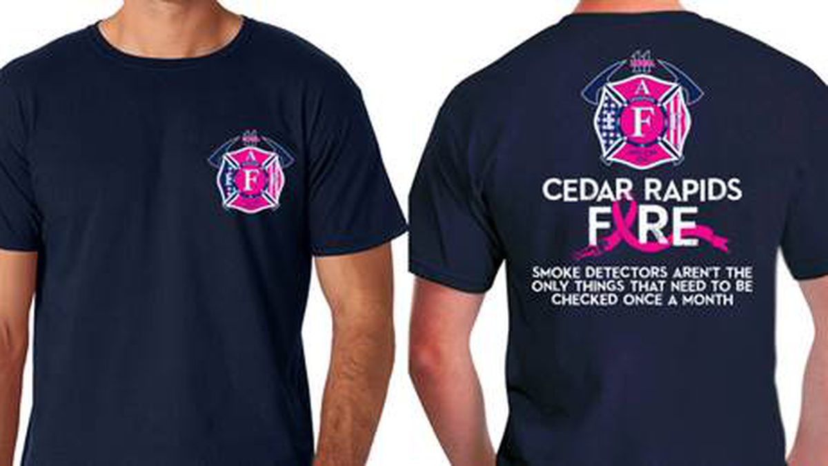 Fire Department Selling Breast Cancer Awareness T Shirts