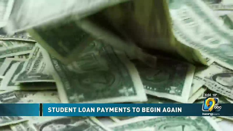 Student loan payments to begin again