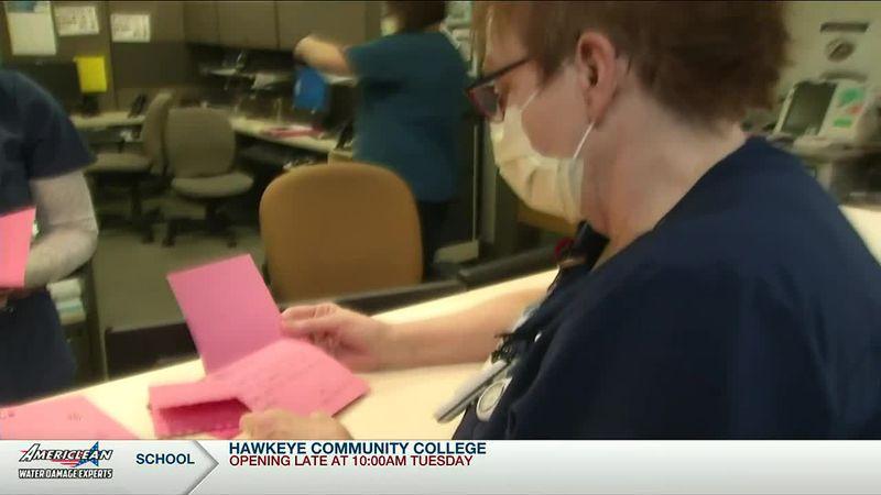 Valentine's encourage Cedar Rapids healthcare workers on frontlines amid pandemic