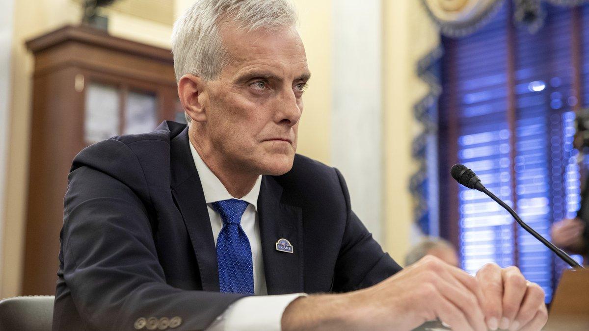 Denis McDonough, Secretary of Veterans Affairs, testifies before the Senate Committee on...
