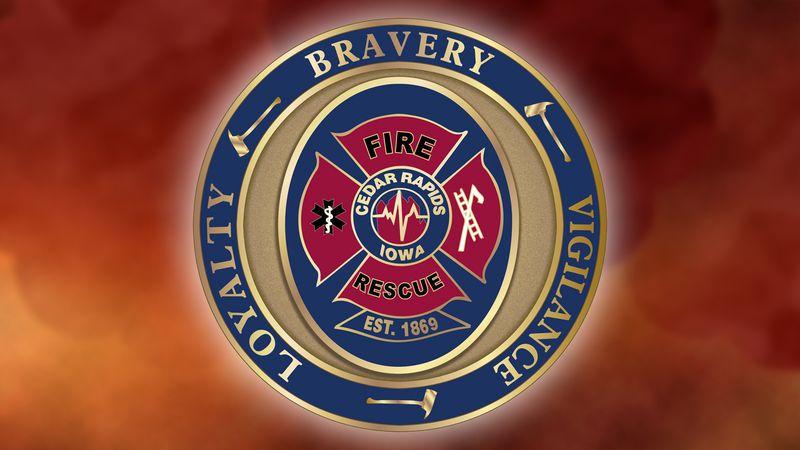The emblem for the Cedar Rapids Fire Department.