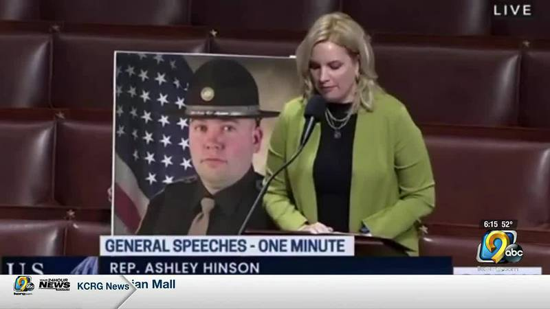 Rep. Hinson honors trooper killed on duty.
