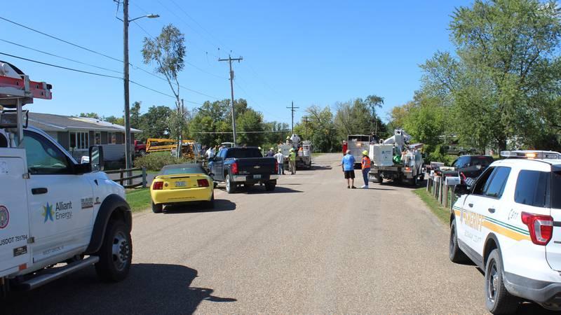 Emergency responders investigate the scene of an electrocution in Hazleton on Wednesday, Sept....
