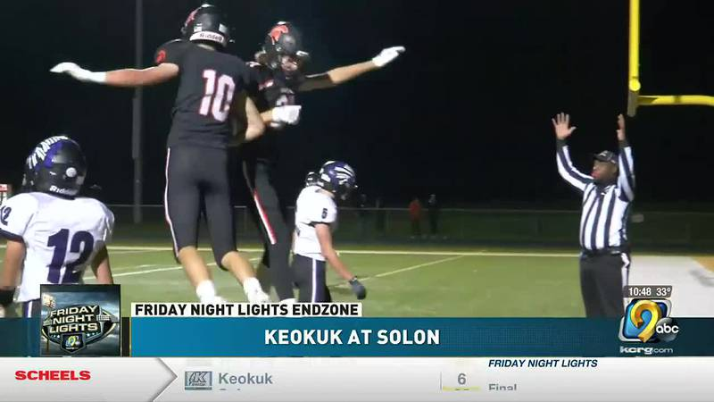 Solon dominates on senior night with a 63-6 victory over Keokuk