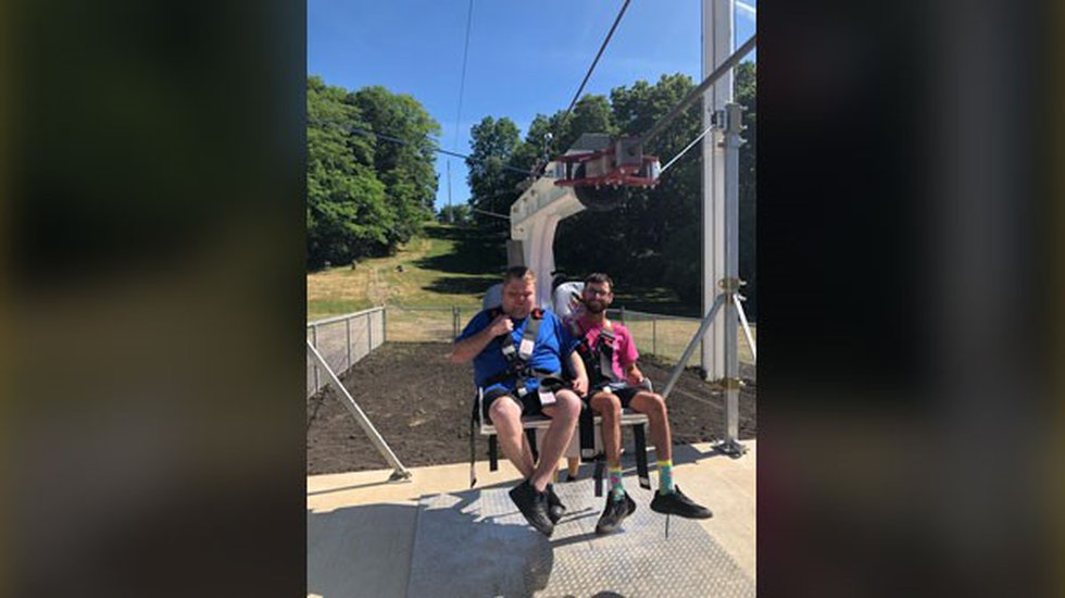Campers try new zipline at Camp Courageous