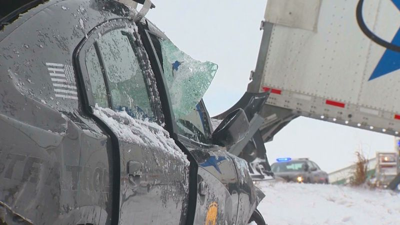 On February 4, a crash involving 40 vehicles forced officials to close the eastbound lanes of...