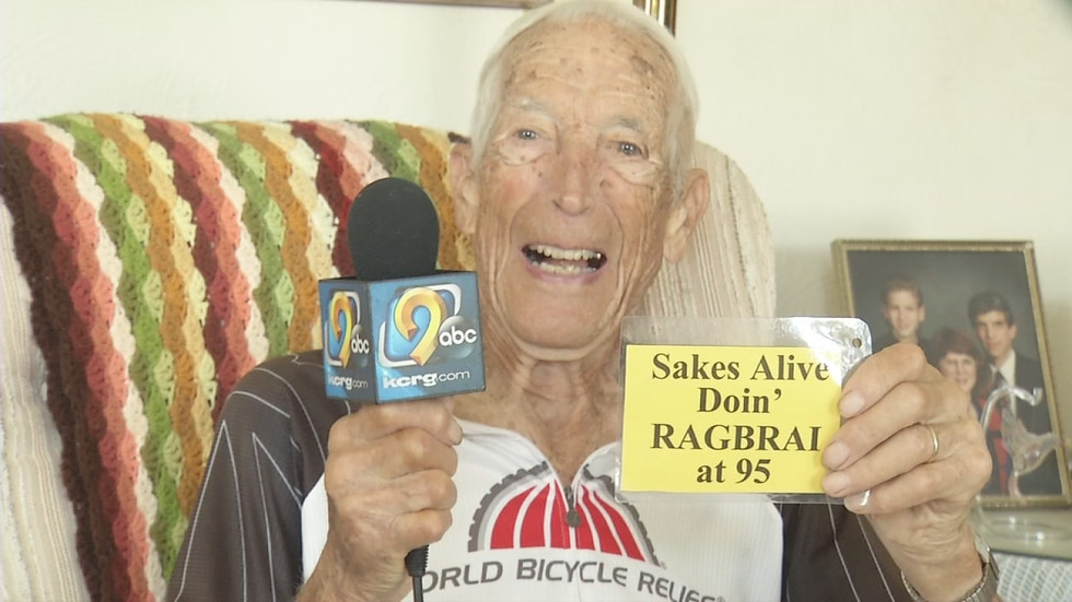 Clarence Boesenberg, of Cedar Rapids, is 95-years-old, and he's been putting in the miles to...