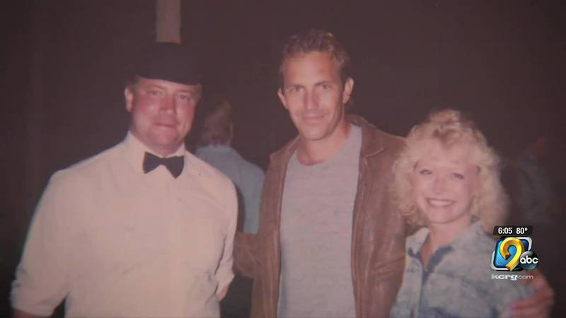 Larry Moore (left) was one of 17 ball players who were extras on the Field of Dreams movie.
