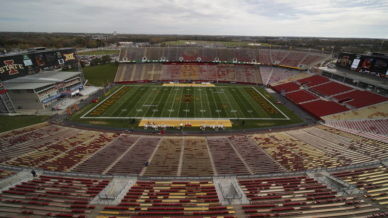 Jack Trice Stadium it set to host Oklahoma State against Iowa State for an NCAA college...