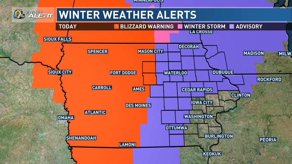 Winter Weather Alerts as of 11 a.m. on January 14th.