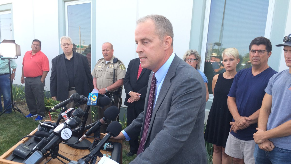 Kevin Winker of the Iowa Department of Public Safety speaks at a news conference Friday in...