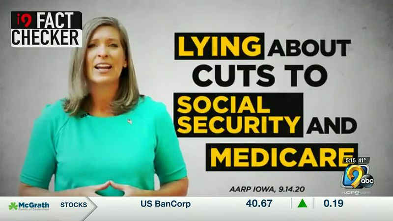 i9 Fact Checker: Ad wrongly claims Ernst is lying on cutting benefits