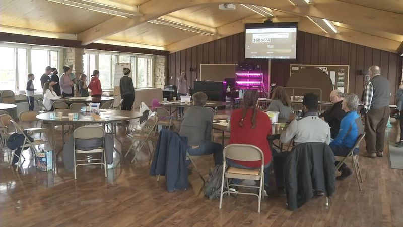 A climate action meeting on Sunday, Feb. 16, 2020 (Rebecca Varilek/KCRG).