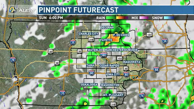 Behind the cold front, look for partly cloudy skies to start the workweek and cooler...