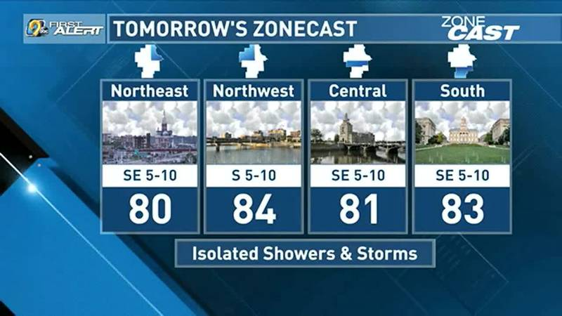 After a drier end to the weekend, rain chances look to return to the forecast on Monday.