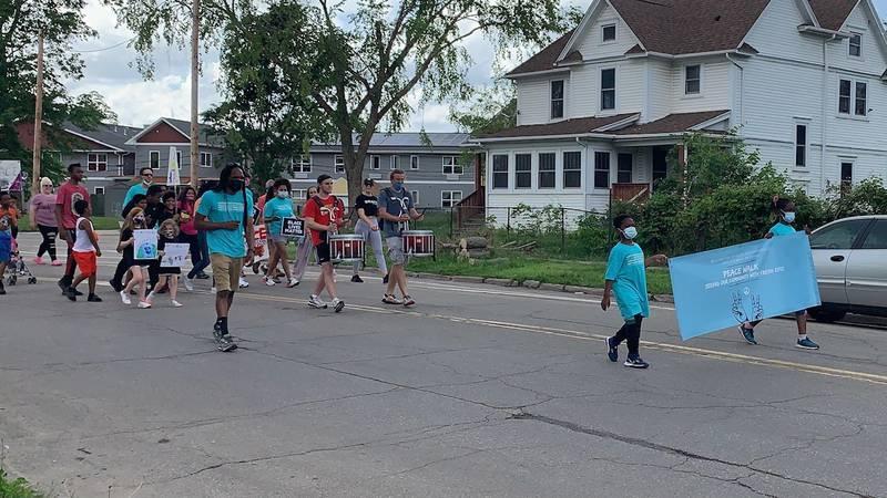 Peace Walk in Cedar Rapids on May 23, 2021