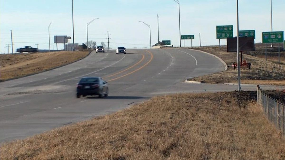 Cars move along Forevergreen Road in Johnson County on Monday, Dec. 2, 2019. Nearby communities hope the easier access to Interstate 380 provided by the new interchange with that road will spur further development (Marlon Hall/KCRG)