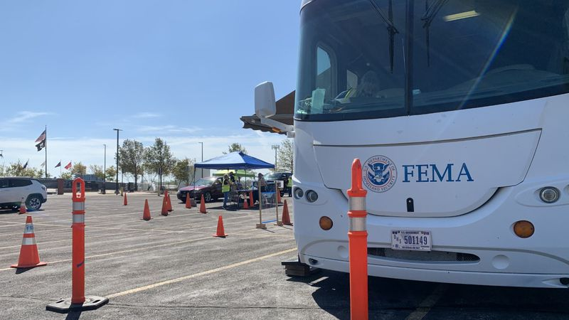 The FEMA Disaster Recovery Center located at 950 Rockford Rd. SW in Cedar Rapids on Wednesday,...