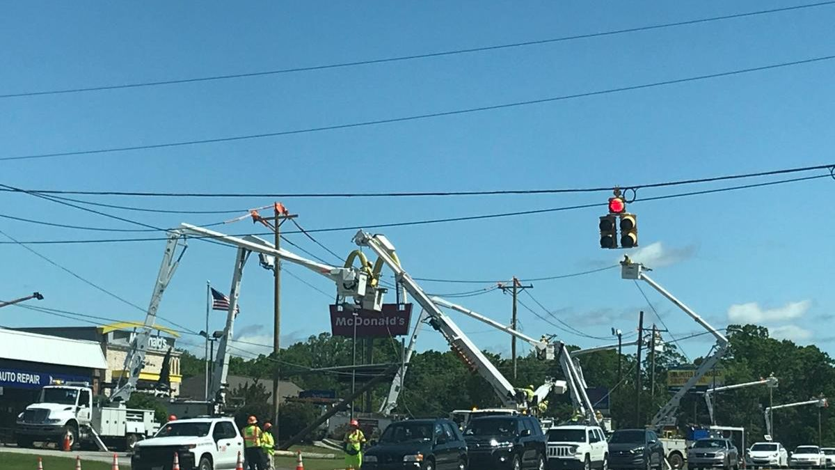 Power crews in Marion are working day and night to clean up from the derecho that slammed eastern Iowa on Monday.