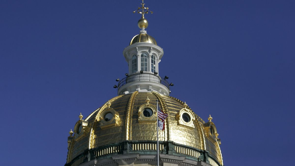 A view of the Iowa State Capital dome photographed, Wednesday February 9, 2011 in Des Moines. ...