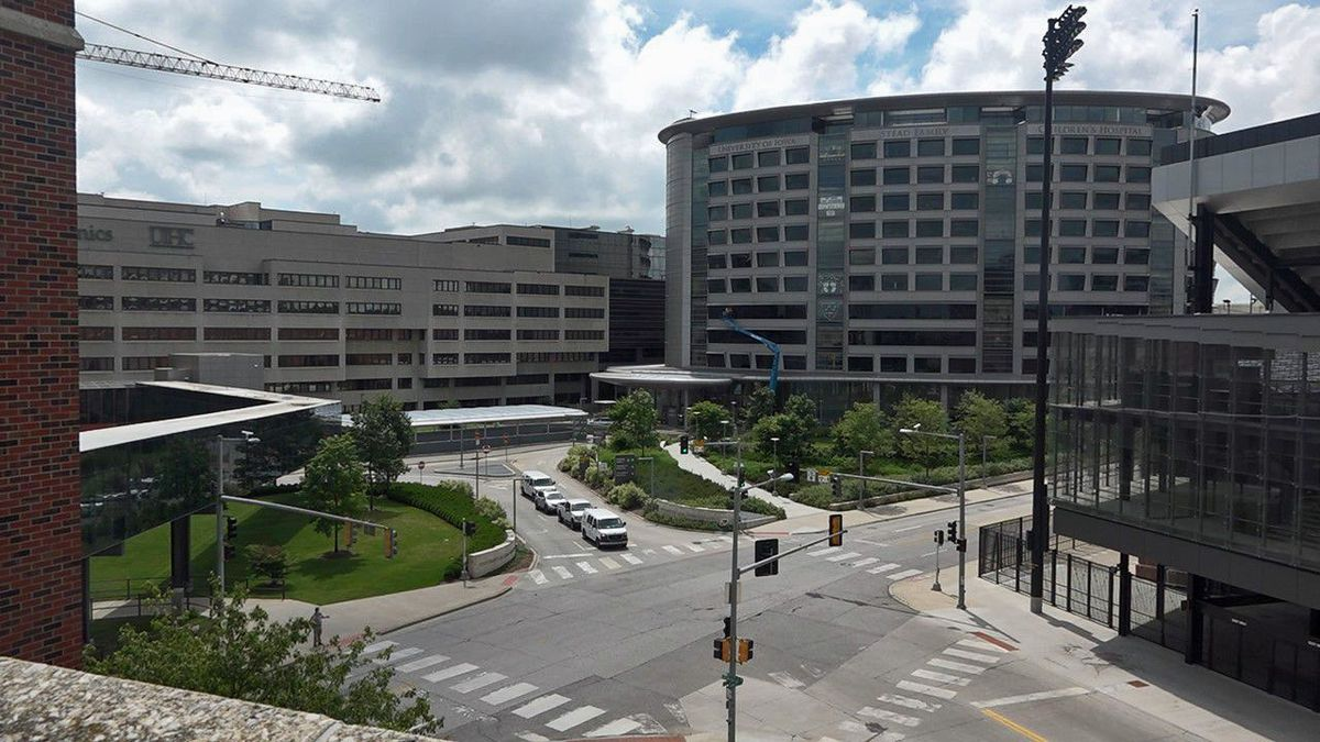 The University of Iowa Hospitals and Clinics in Iowa City on July 17, 2020.