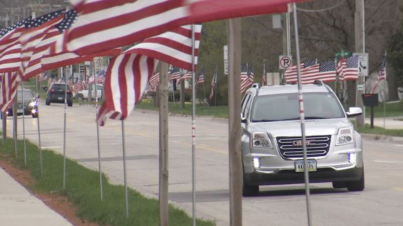 About 2,000 flags were placed around Independence on April 14, 2021.