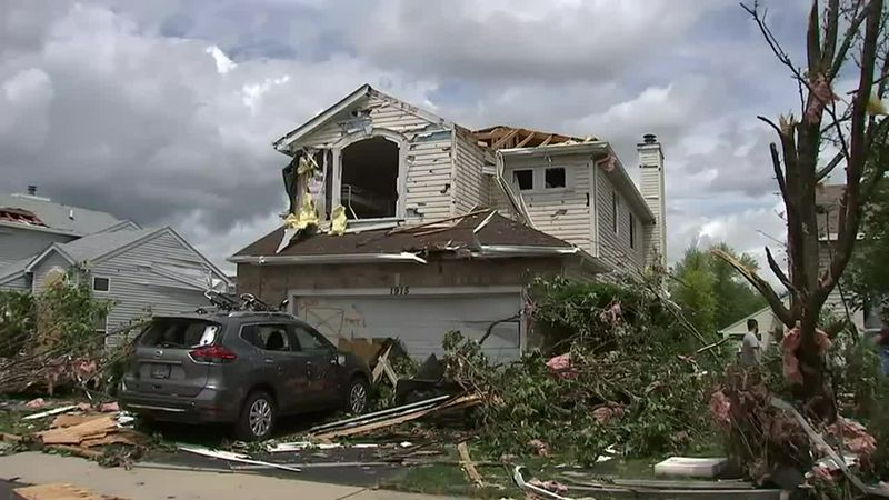 Naperville residents share harrowing tornado stories after severe storms strike. (Source: WLS...