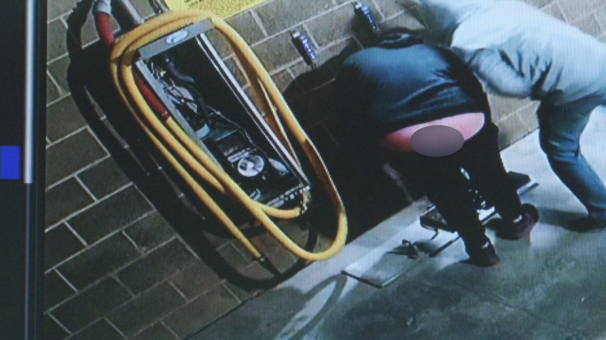 Security footage captures a cheeky thief and a colleague burglarizing the Westdale Car Wash in...