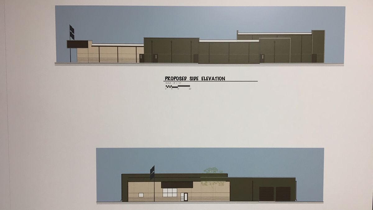 Two drawings show a proposed jail for Jackson County. (Allison Wong, KCRG)