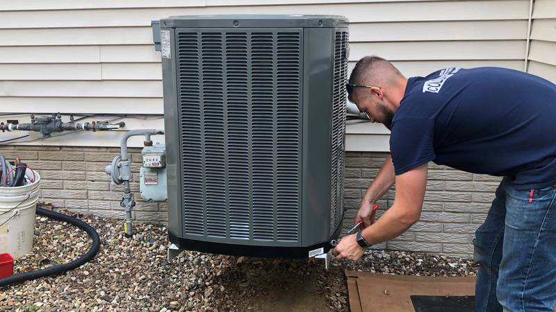 Working with Colony heating and cooling putting in a new air conditioner. Shortage of materials...