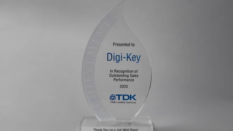 TDK-Lambda Americas, Inc. recognized Digi-Key Electronics for its Outstanding Sales Performance...