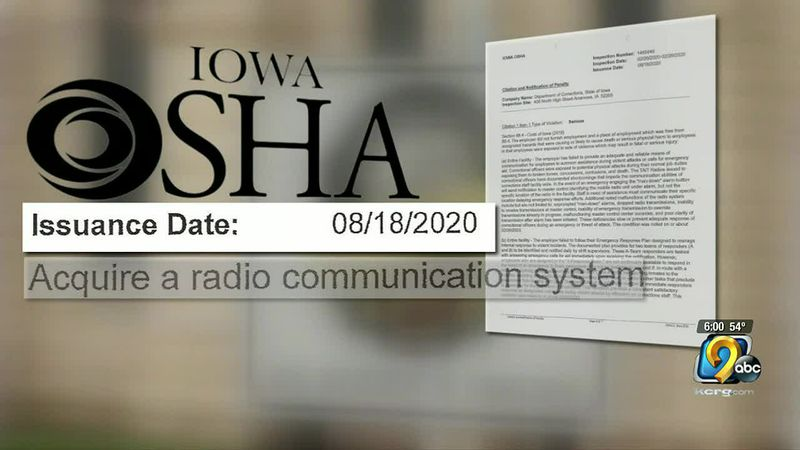 Iowa OSHA: Anamosa Prison didn't have enough employees to help during an emergency