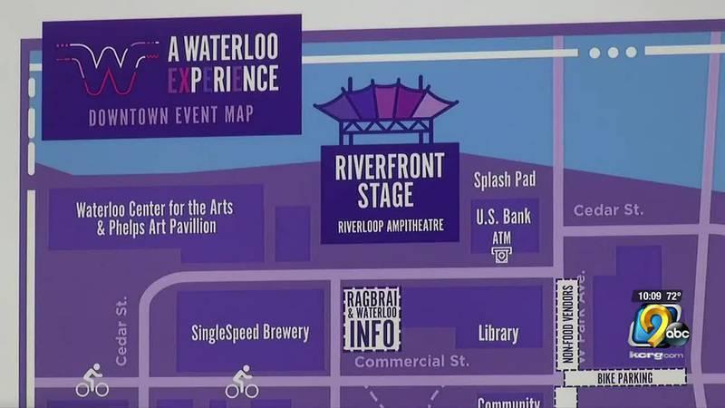 Waterloo RAGBRAI Map